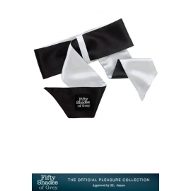 "Cravate-menottes luxe satin - ""soft limits"" - fifty shades of grey"