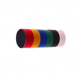 Lot de 6 rouleaux de ruban adhesif isolant  coloris variés 19 mm x 2,5 M