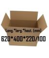 Carton caisse américaine double cannelure 620*400*220/100